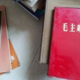 毛主席像册  塑料红皮皮