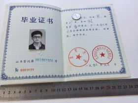 1996年 北京大学【毕业证书】