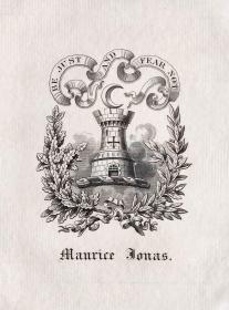 """英国艺术家""""THOMAS MORING"""" 铜版藏书票 《城堡》1901"""