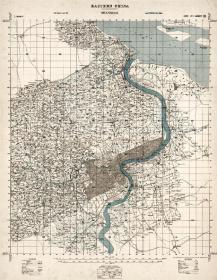 老地图,上海老地图,1927年上海老地图,Eastern China, shanghai,英国军械测量局编制