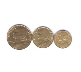 法国硬币3枚 旧品见图 外国钱币