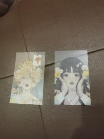 动画人物塑料卡片两张张