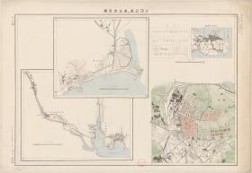 1935大连市老虎滩星浦星海公园沙河口区历史资料地理图复制版研究装饰画家居装饰