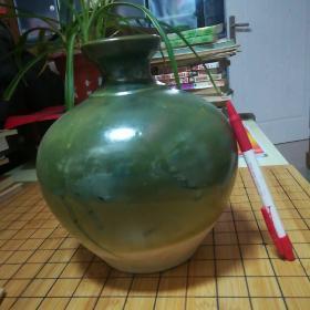 瓷器罐(孔雀绿色)