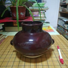 瓷器罐(带二耳)