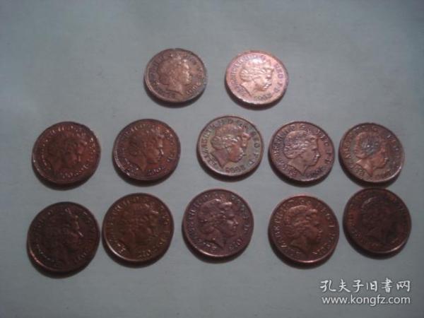 英国1便士硬币 2004-2015  12枚