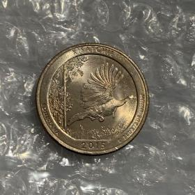 2017世界硬币大奖   最佳流通币:美国路易斯安那州基萨奇森林公园纪念币