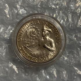 美国独立200周年纪念币   1/4美元25美分胜利鼓手