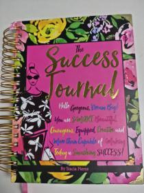 The Success Journal 英文日记彩色记事本 螺旋装18开硬封面超厚