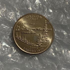 2007世界硬币大奖 : 最佳贸易币美国俄勒冈州-卡特湖纪念币