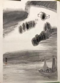 朱雅梅《朝圣图》68x45cm【保真】