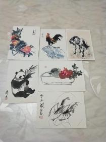 朵云轩木版水印画册《小品》画片六枚