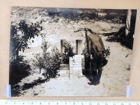 民国抗战时期拿着指挥刀鞠躬的日本鬼子军官等照片2张