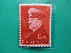 【德国全新邮票】希特勒像(42岁生日)(1枚全)