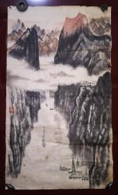 中国美协理事,陕西国画院长苗重安文革时期山水