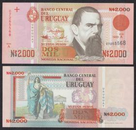 乌拉圭2000比索(1989年版)