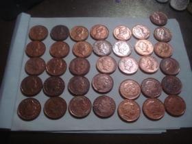 英国1便士硬币 1971-2015 缺 72.73.77.82.85.05.06.10.12 共36枚