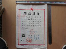 1958年四川铜梁县《毕业证书》,蒋扬荣,2020.2.27
