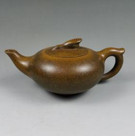 精品收藏宜兴紫砂壶原矿手工古铜天鹅壶