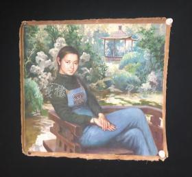 著名油画家、中国油画学会理事、中央美院教授 赵友萍1985年油画作品《兰兰》一幅(尺寸75*80cm)HXTX313343
