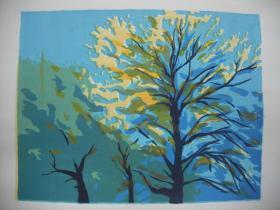 套色丝网版画 《秋》   尺寸:46X37厘米