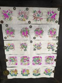 解放初期        五色套印     《革命样板戏剧木版画等》                一套  五张!!!!!!!!!