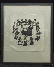 著名版画家、原中国版协副主席 牛文 1959年 木刻版画《东方红太阳升》一幅 附框(出版社:四川人民出版社出版《四川版画选》) HXTX312135