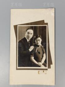 民国著名教育家、曾任西安中山大学校长 黄统、桑文辉夫妇合影一桢 HXTX168854
