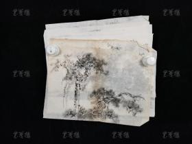 徐悲鸿与傅抱石弟子、著名画家 胡海超 水墨画作品一组六幅(均为纸本软片,尺寸:24.5*32cm*6)HXTX313548