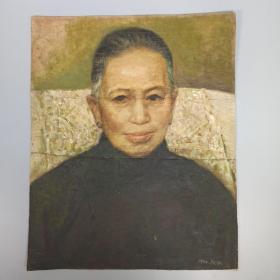 崔-豫-章旧藏:1942年 peon款  夫人肖像油画作品一幅 HXTX313812
