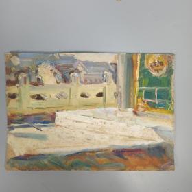 崔-豫-章旧藏:五十年代 佚名 油画作品一幅 (或为崔豫章早期油画作品)HXTX313814