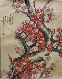台湾藏家提供,王成喜一幅,过海关卷轴被裁,画芯无伤害,画芯117*97厘米