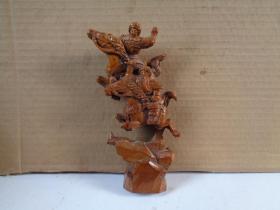 黄杨武将木雕,高19cm,品好如图。