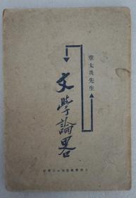 ZD:民国原版文学书刊章太炎著作《文学论略》32开平装本一册 1926年再版本 此书胡适作序 少见