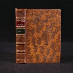 【17世纪拉丁文典籍】1647年,《苏尔比基乌斯·西弗勒斯文集》,原始斑纹小牛皮精装,精美雕版书名页,五层竹节背,书脊烫金压花