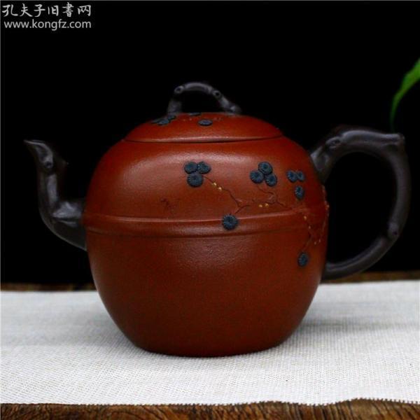 宜兴原矿紫砂壶纯全手工茶壶 功夫茶具梅花壶