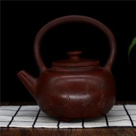 正宗宜兴原矿朱泥提梁壶茶壶茶具