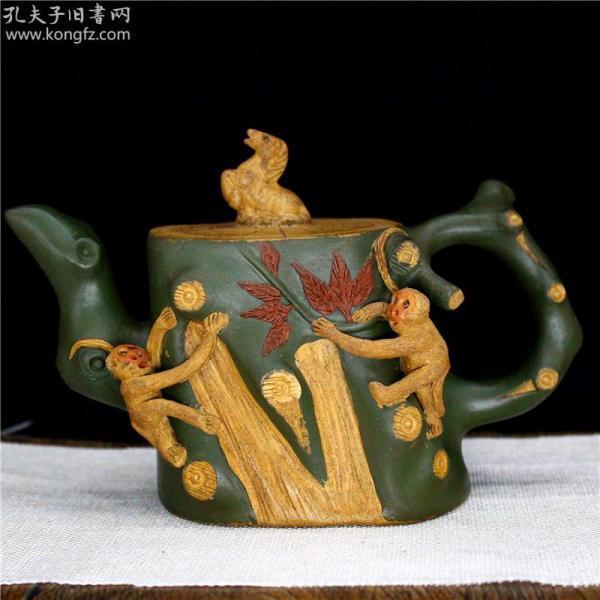 宜兴原矿紫砂壶手工茶壶茶具 马上封侯