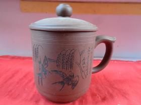 老紫砂壶一件,民国,半径10.5cm,高17cm,品好如图。