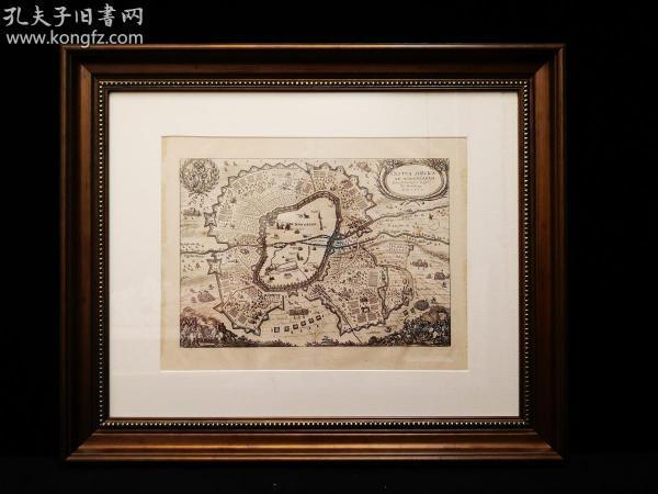 1632年 纽伦堡(Nurnberg)会战,欧洲三十年战争,出自史上最著名的制图师Matth?us Merian的代表作《欧洲舞台》(Theatrum Europaeum)(1629-1650年),带框装帧,品相完美,极具历史意义和收藏价值!国际拍卖公司级别,难得一见!