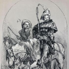 「驯悍记」1880年莎士比亚戏剧版画 著名莎翁插画家吉尔伯特爵士绘 达德利刻 尺寸30*24厘米 /SHKSPRB57