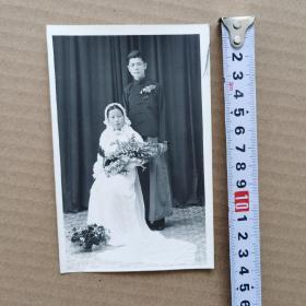 民国结婚照片,尺寸14X9厘米