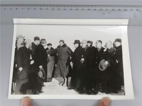 高帆拍摄 毛主席1949年在北平接见各界人士代表  文革时期新闻照片  0425