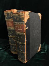 【18XX年英文古董书·1000幅版画】两册合售