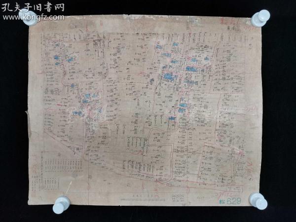 民国二十三年(1934)至民国二十四年(1935) 手工绘制 上海、金山 等地测绘清丈 地图一组七张(绘制精密内容翔实,背后钤印上海市城市规划勘测设计院等戳记,为建国后上海行政区划重新规划统计印记。实为研究近代上海行政区划及历史沿革之宝贵资料及重要文献,亦可作为建馆展示陈列之极佳展品,尺寸:49*59cm*7)HXTX176048