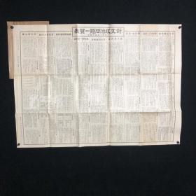 1931年 大阪每日新闻社发行 商工会议所调查《对支政治问题一览表》一大张(内容涉及租界、税务、驻军等,全开大张,日军发动侵华战争的铁证;尺寸64*88cm)HXTX313890