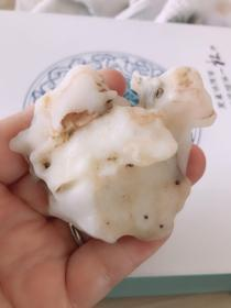 """【喜羊】新疆哈密蛋白玉地表料像型奇石""""可做笔山"""""""