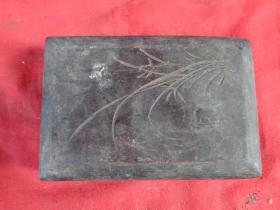 民国砚台木盒一件,长14cm9.5cm厚3cm,品好如图。