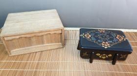 N 0518号     带外木盒的 木胎螺钿漆盒