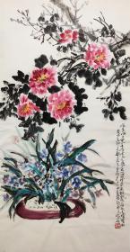 当代中国山水画第一人,辽宁省美术家协会名誉主席【宋雨桂】花卉